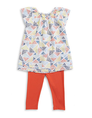 Splendid Two-Piece Printed Top and Leggings Set-MULTI-3-6 Months