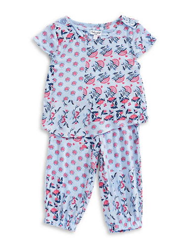 Splendid Printed Two-Piece Top and Pants Set-GREY-3-6 Months