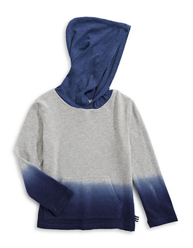 Splendid Dip-Dye Hooded Top-GREY-3T