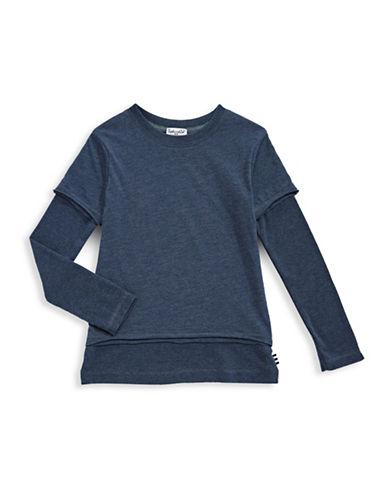 Splendid Basic Layered Top-BLUE-4T