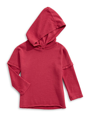 Splendid Cotton-Blend Hooded Sweater-RED-3-6 Months