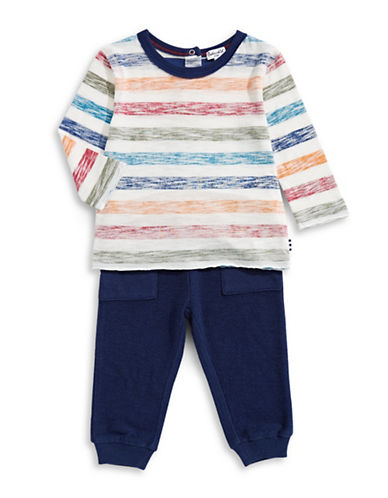 Splendid Two Piece Striped Tee & Bottoms-ASSORTED-6-12 Months