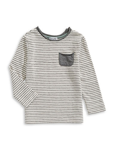 Splendid Striped Pocket Tee-WHITE-2T