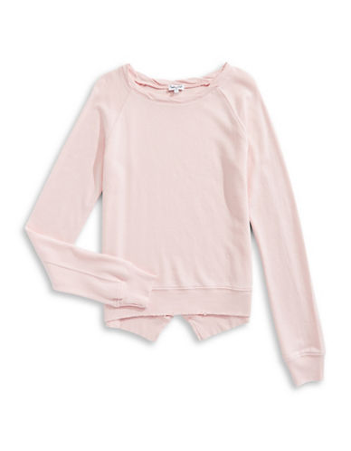 Splendid V-Cut Back Sweatshirt-LIGHT PINK-14