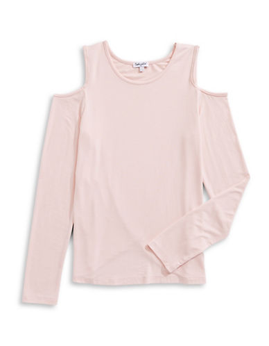 Splendid Basic Cold-Shoulder Top-LIGHT PINK-7