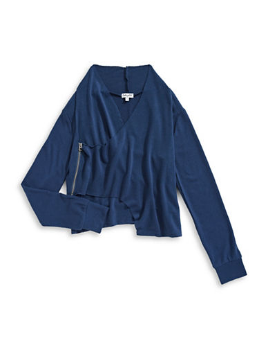 Splendid Wrap Sweater-NAVY-12