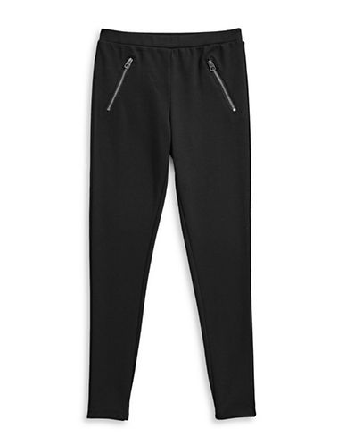 Splendid Front Zip Ponte Leggings-BLACK-12