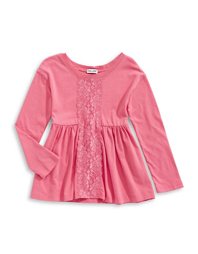 Splendid Lace Insert Tunic-PINK-3X