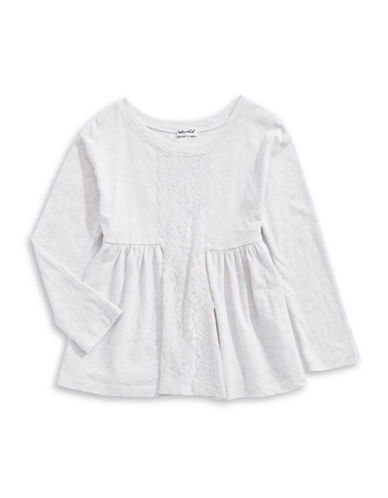 Splendid Floral Lace Front Dress-GREY-6X