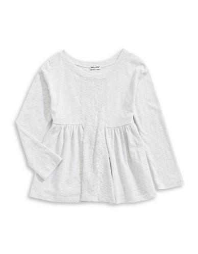 Splendid Floral Lace Front Dress-GREY-4
