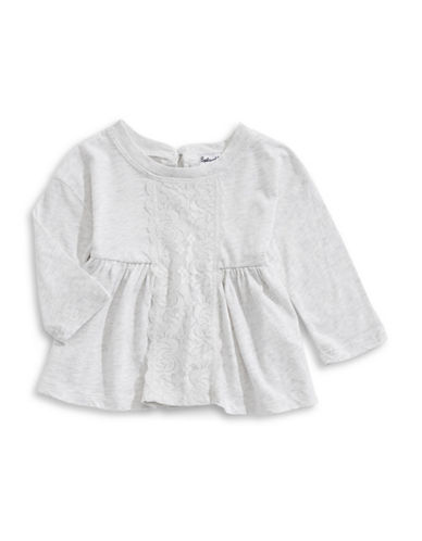 Splendid Lace Insert Tunic-GREY-6-12 Months