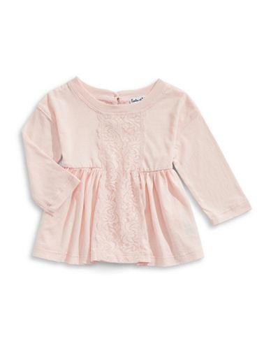 Splendid Lace Insert Tunic-PINK-18-24 Months