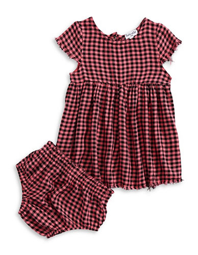 Splendid Plaid Swing Dress-GREY-3-6 Months