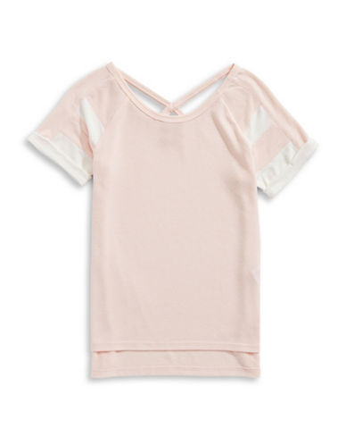 Splendid Loose Knit Football Top-LIGHT PINK-10
