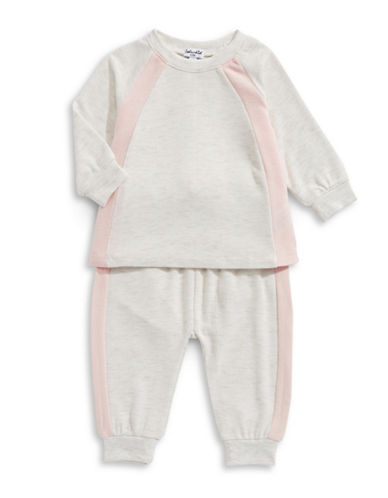 Splendid Two-Piece Sweater and Joggers Set-PINK-12-18 Months