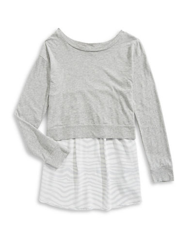 Splendid Marled Zebra Dress-GREY-12