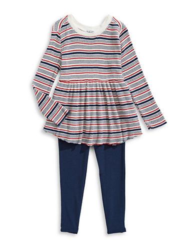 Splendid Two-PIece Striped Cotton Top and Pants Set-MULTI-2X