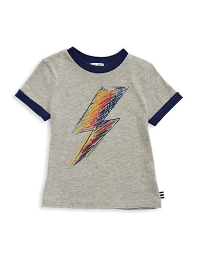 Splendid Lightning Bolt Tee-GREY-2T