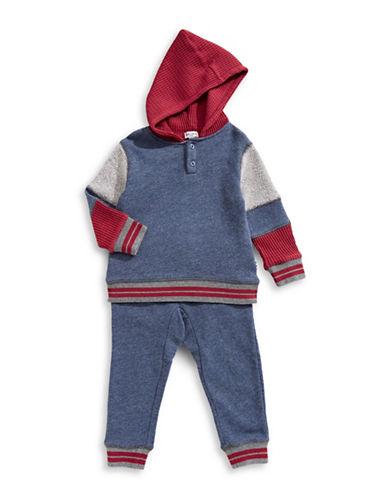 Splendid Two-Piece Mixed Hoodie & Pants Set-BLUE-3-6 Months