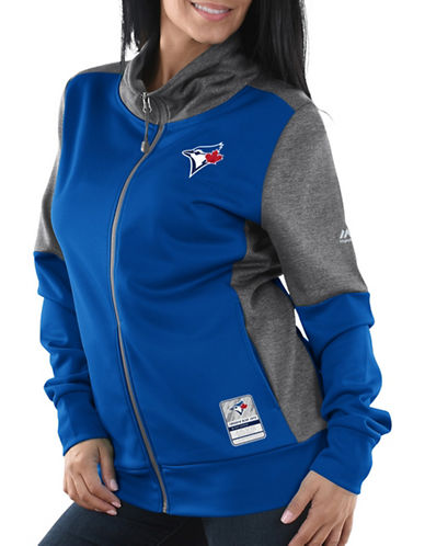 Majestic Toronto Jays Winners Take Full-Zip Jacket-BLUE-Medium