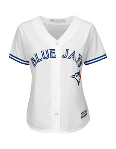 Majestic Toronto Blue Jays Cool Base Home Jersey-WHITE-Small