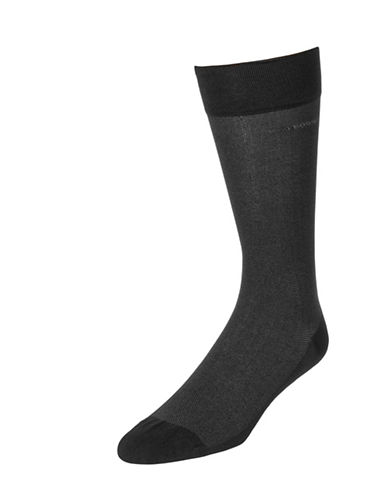 Boss Mens Subtle Texture Dress Socks-CHARCOAL-7-12