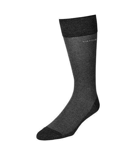 Boss Mens Subtle Texture Dress Socks-CHARC-7-12