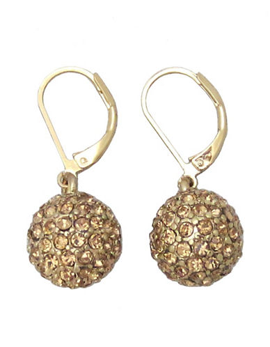 Anne Klein Fireball Leverback Earrings-GOLD-One Size