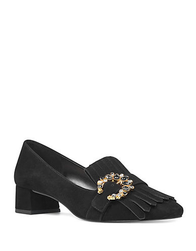 Nine West Wadley Suede Pumps-BLACK-7