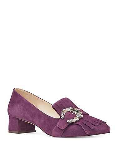 Nine West Wadley Suede Pumps-BURGUNDY-6.5