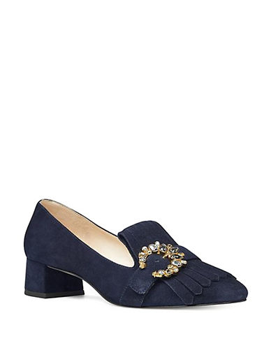 Nine West Wadley Suede Pumps-NAVY-5.5