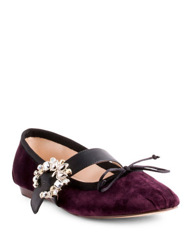 Nine West Xandi Bur Velvet Suede Mary Jane-BURGUNDY-7.5