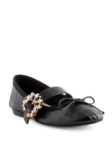 Nine West Xandi Bur Velvet Leather Mary Jane-BLACK-6.5