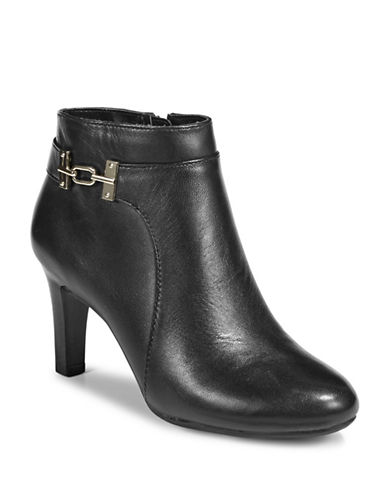 Bandolino Leather Ankle Boots-BLACK-7