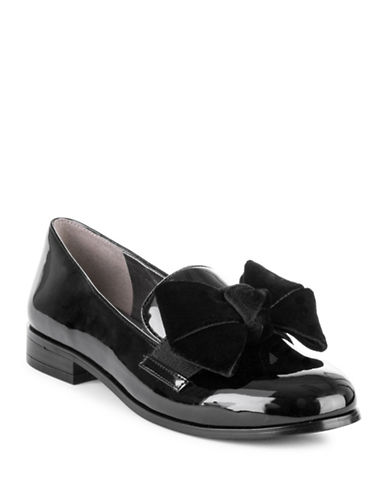 Bandolino Bow Patent Loafers-BLACK-8.5