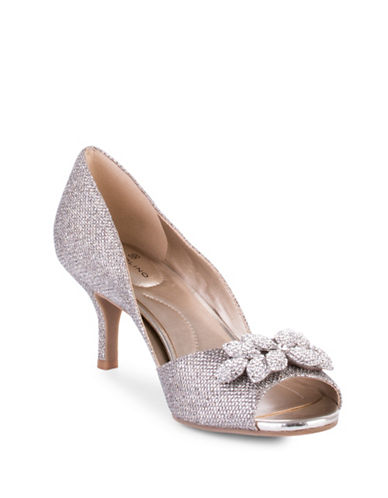 Bandolino Peep-Toe Pumps-GOLD-8.5