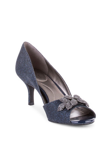 Bandolino Peep-Toe Pumps-NAVY-6.5