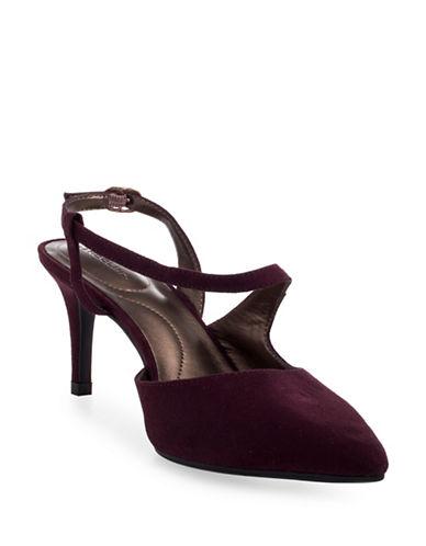 Bandolino Bando Pointed Toe Patent Heels-WINE-6