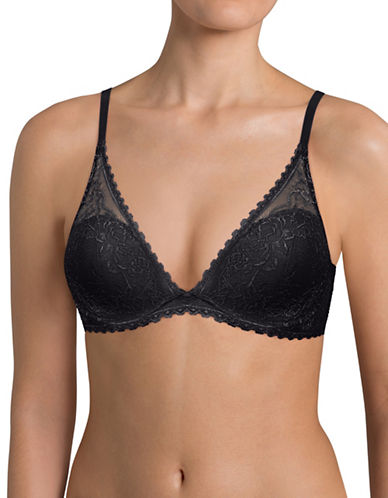 Triumph Darling Lace Underwired Bra-BLACK-32B