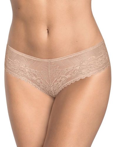 Triumph Darling Lace Thong-NUDE BEIGE-Medium/Large