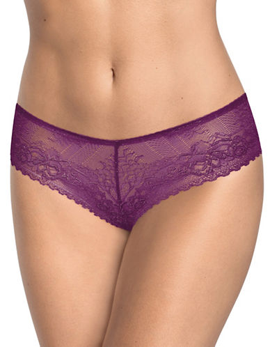 Triumph Darling Lace Thong-PURPLE-Medium/Large