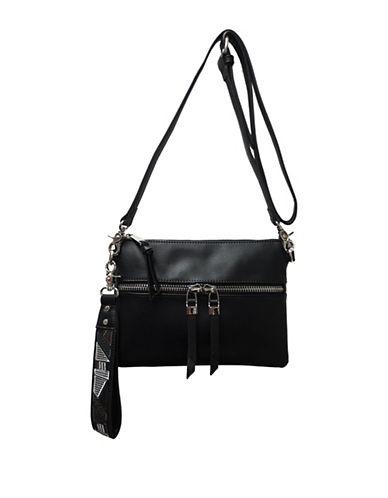Sondra Roberts Squared Wristlet Crossbody Bag-BLACK-One Size