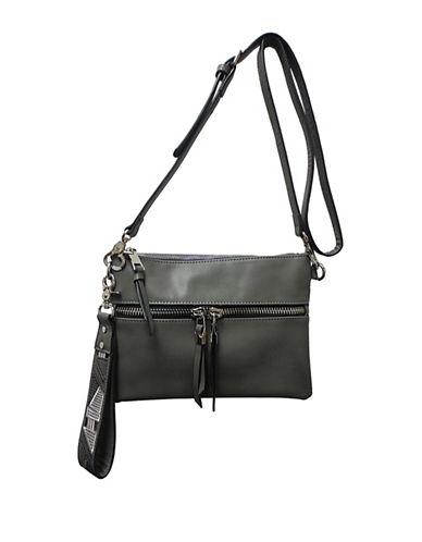 Sondra Roberts Squared Wristlet Crossbody Bag-GREY-One Size
