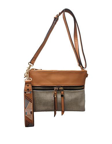 Sondra Roberts Squared Wristlet Crossbody Bag-GOLD-One Size