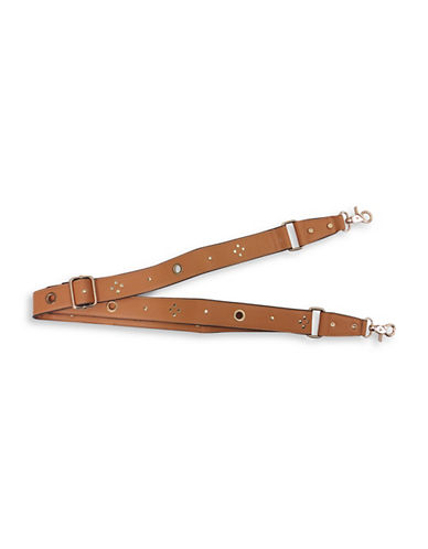Sondra Roberts Squared Embellished Handle Strap-BROWN-One Size