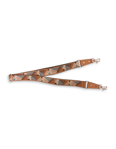 Sondra Roberts Squared Embellished Handle Strap-NATURAL MULTI-One Size