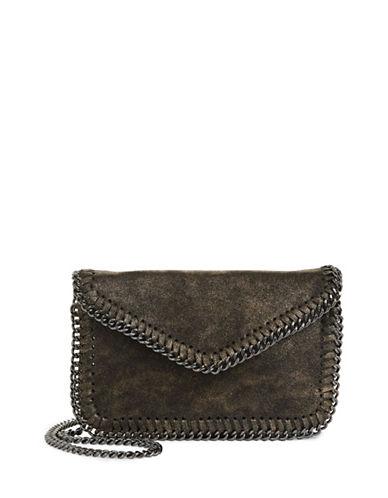 Sondra Roberts Squared Chain Edge Crossbody Bag-BRONZE-One Size