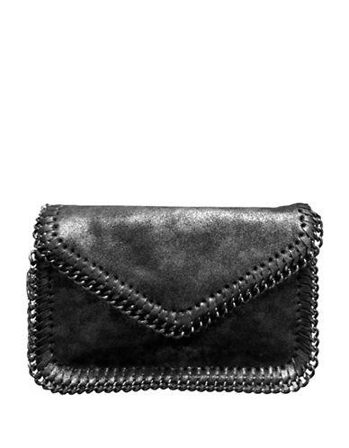 Sondra Roberts Squared Chain Edge Crossbody Bag-PEWTER-One Size