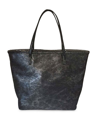 Sondra Roberts Squared Chain Edge Tote-PEWTER-One Size