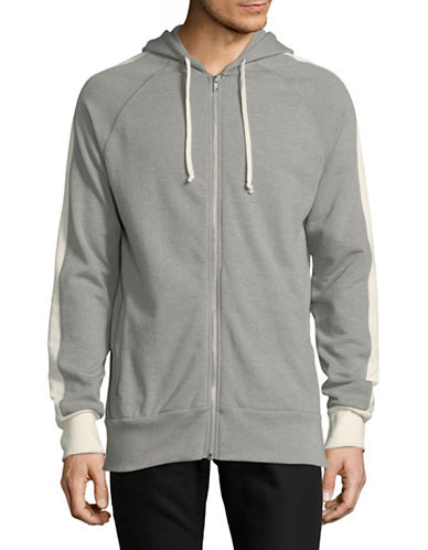 Alternative Franchise Striped Hoodie-GREY-Large